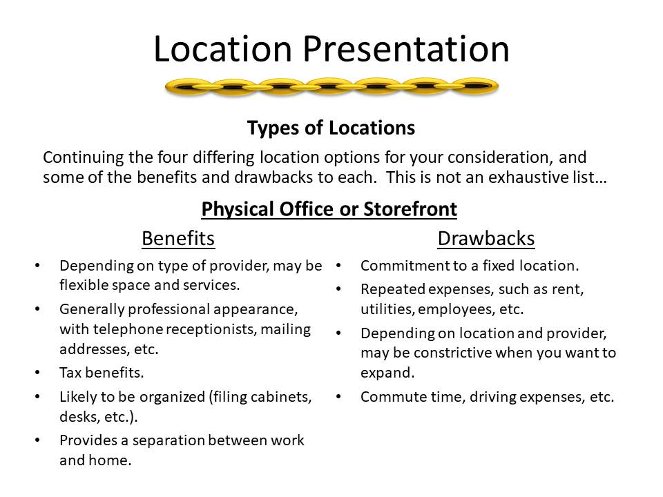 Location Presentation Brainstorming For Your Workplace